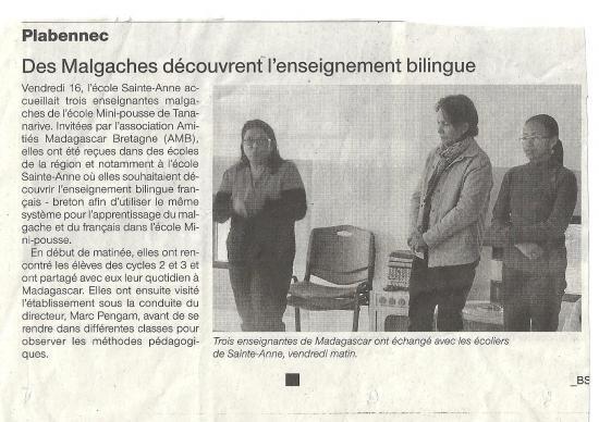 Plabennec delegation malgache 2014