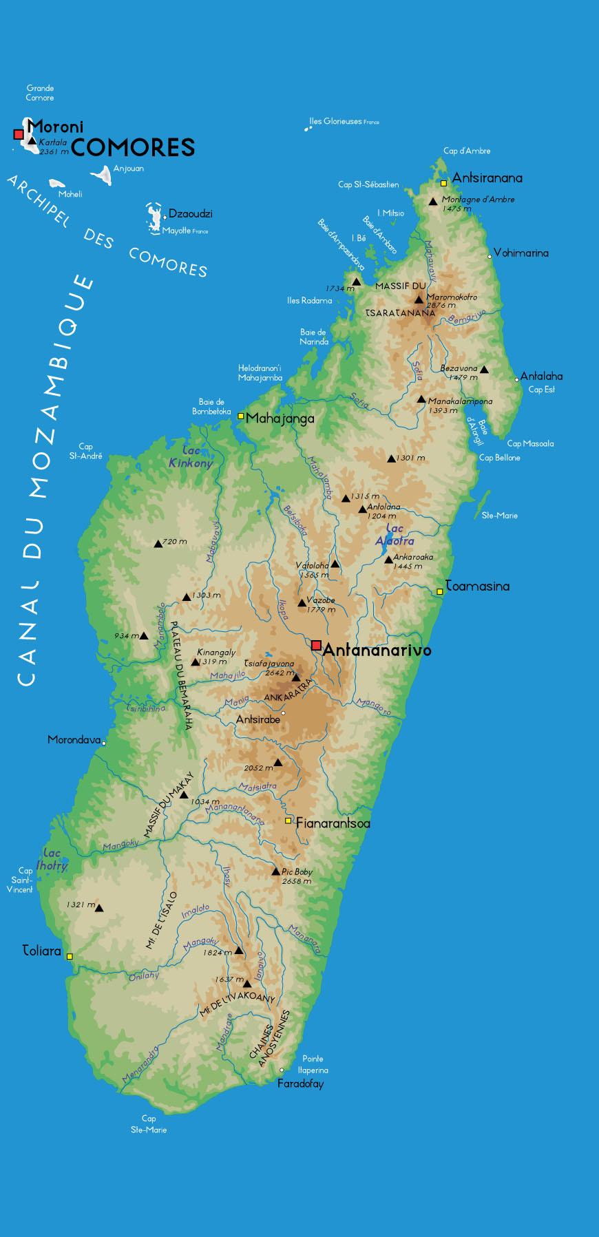 Carte Madagascar Et Ses Iles.Generalites